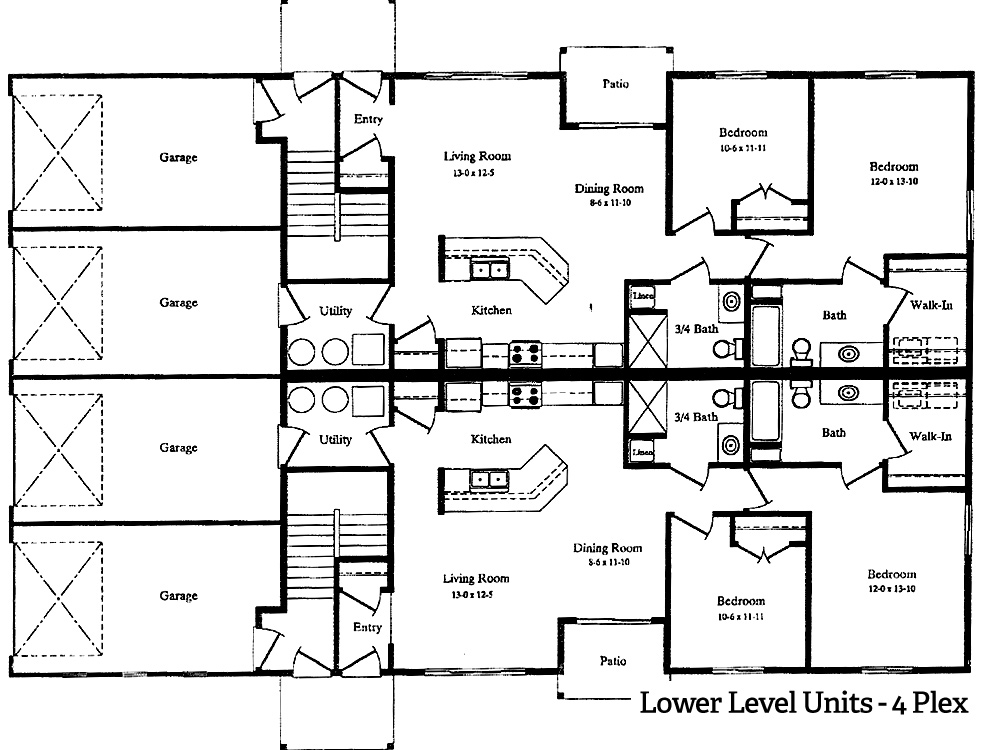 Willow river apts 4 plex hafner properties for 4 apartment building plans